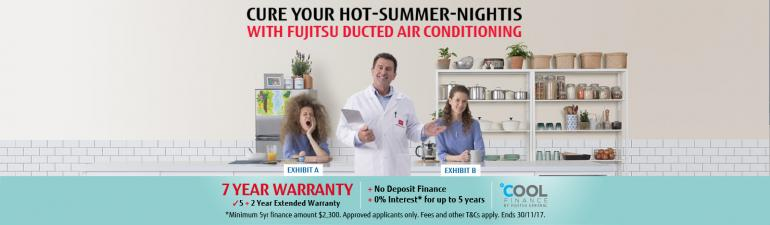 End your suffering this summer with Fujitsu ducted air conditioning - 1