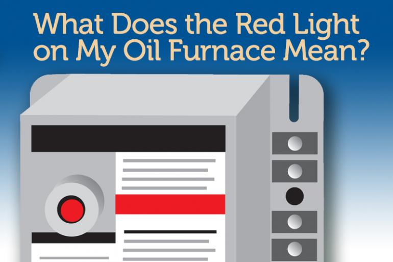 What does the red light on my oil furnace mean aeroventic for What does mean lit