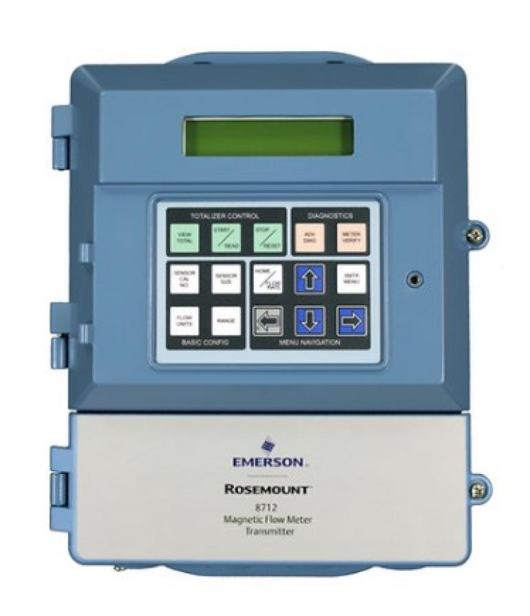 Emerson's New Magnetic Flow Meter Transmitter Simplifies Installation, Maintenance and Operation