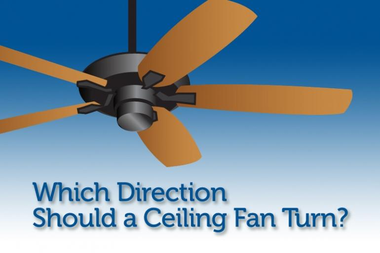 Which Direction Should a Ceiling Fan Turn?