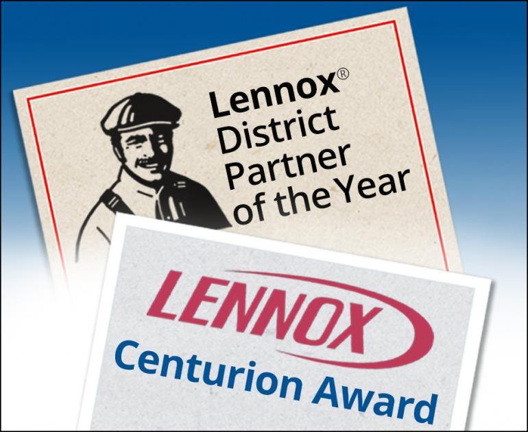 HB McClure Receives Lennox® District Partner of the Year and Centurion Awards