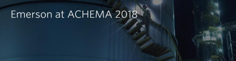 Emerson at ACHEMA 2018