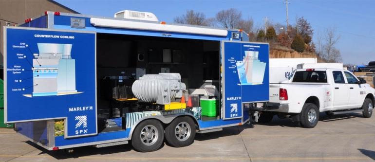 SPX Mobile Display Trailer Highlights Marley® Cooling Tower Component Advantages