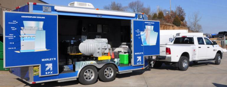 SPX Mobile Display Trailer Highlights Advantages of Marley® Cooling Tower Components