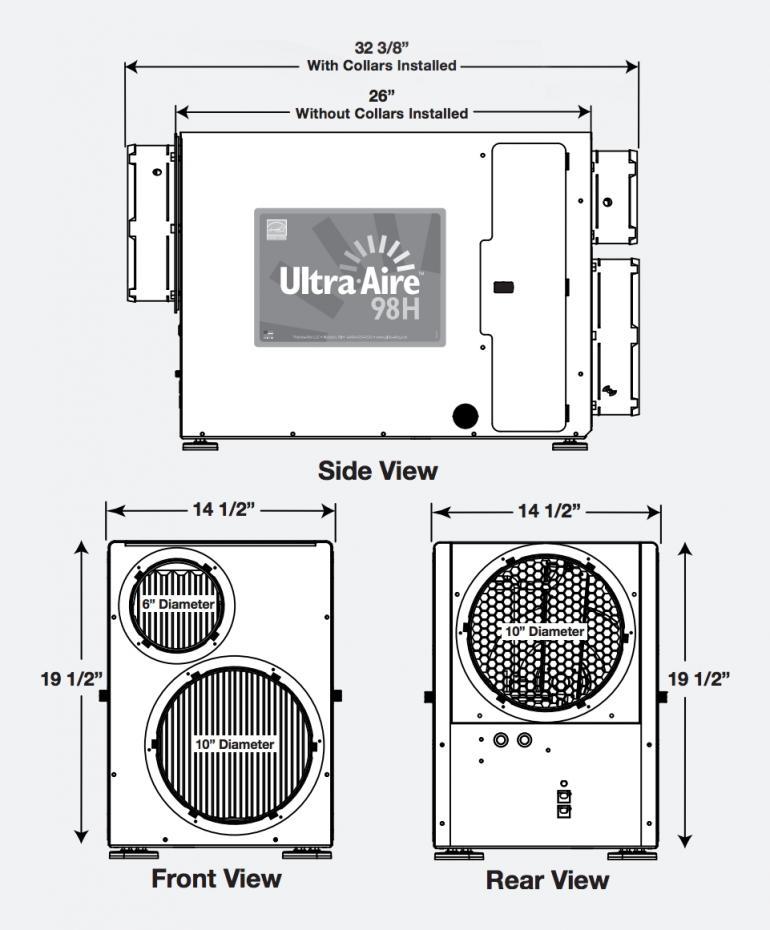 Dehumidifier 98h Ultra Aire Aeroventic
