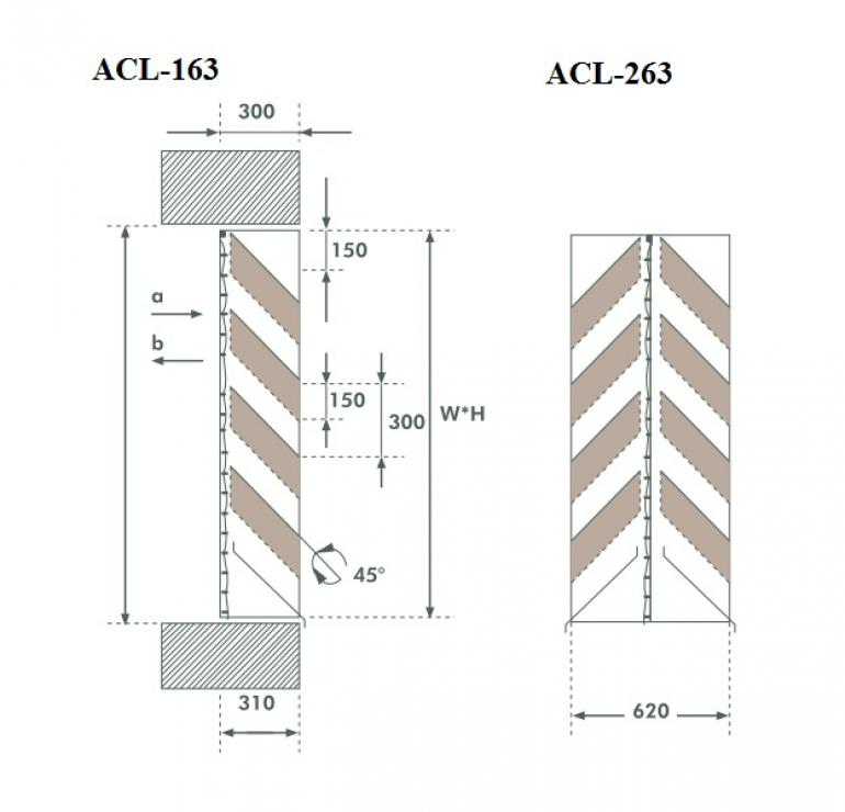 Acoustic louver ACL-063 GMC AIR - 1