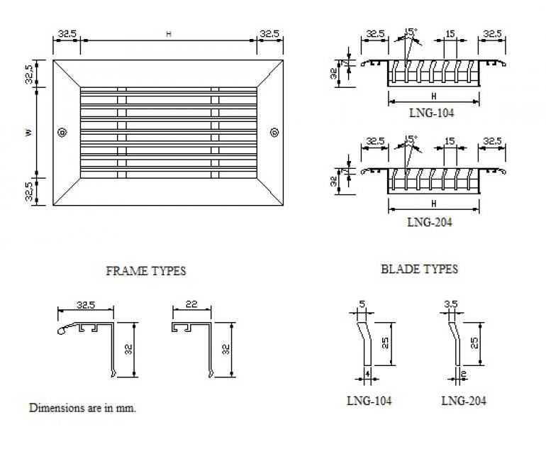 Linear grille LNG-003 GMC AIR - 2