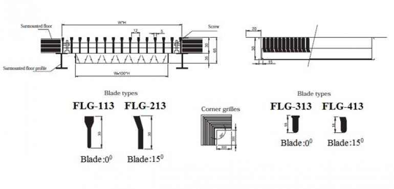Floor linear grille FLG-013 GMC AIR - 1