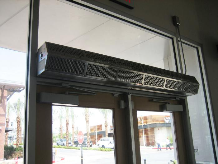 Hot water / steam air curtain Commercial Low Profile 8 Berner