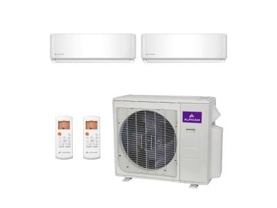 Dual-Zone Ductless Mini-Split 18,000 BTU Inverter Heat Pump System (12k+12k) 21.3 SEER ALPICAIR