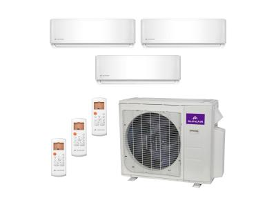 Tri-Zone Ductless Mini-Split 27,000 BTU Inverter Heat Pump System (9k+9k+9k) 22.0 SEER ALPICAIR