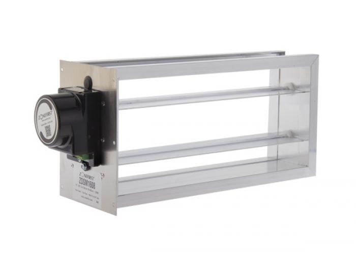 Dampers ZDSM – Side Mount Rectangular Power Open/Close ZONEFIRST